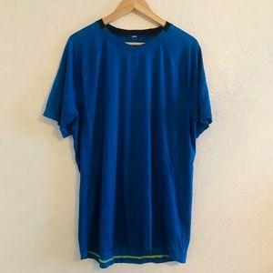 Lululemon Men's Short Sleeve Blue Tee L